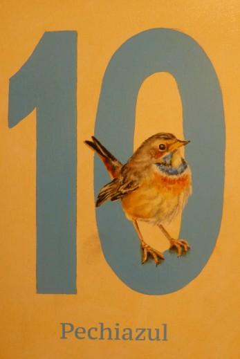 Das Blaukehlchen markiert Zimmer 10 :-)